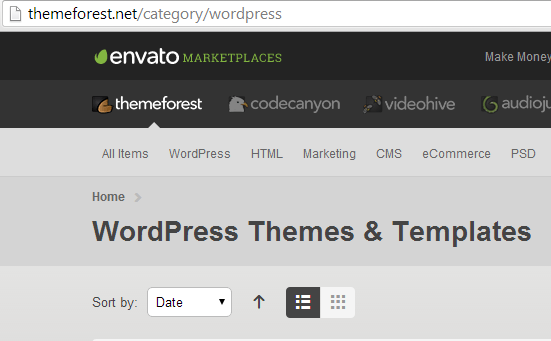 Where to find a WordPress Theme