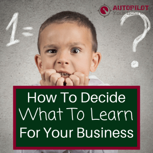 How To Decide What To Learn