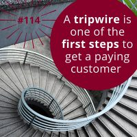 #114 – How to Use Tripwire Marketing for Your Business