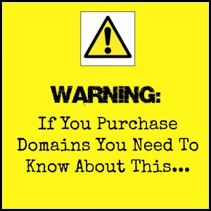 What to Watch out for When You Buy a Domain